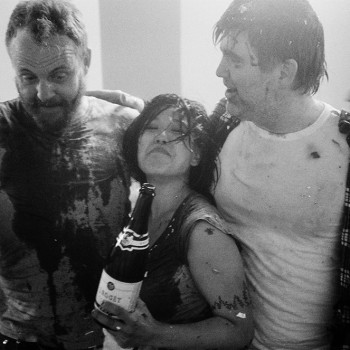 "Main members of LCD Soundsystem on the set of ""Drunk Girls"" Music Video, 2010"