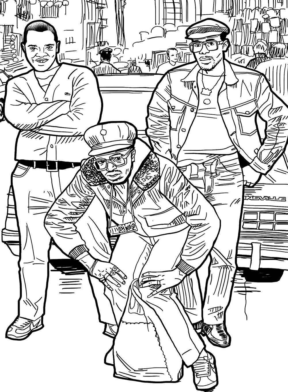 Back In The Days Coloring Book Powerhouse Books