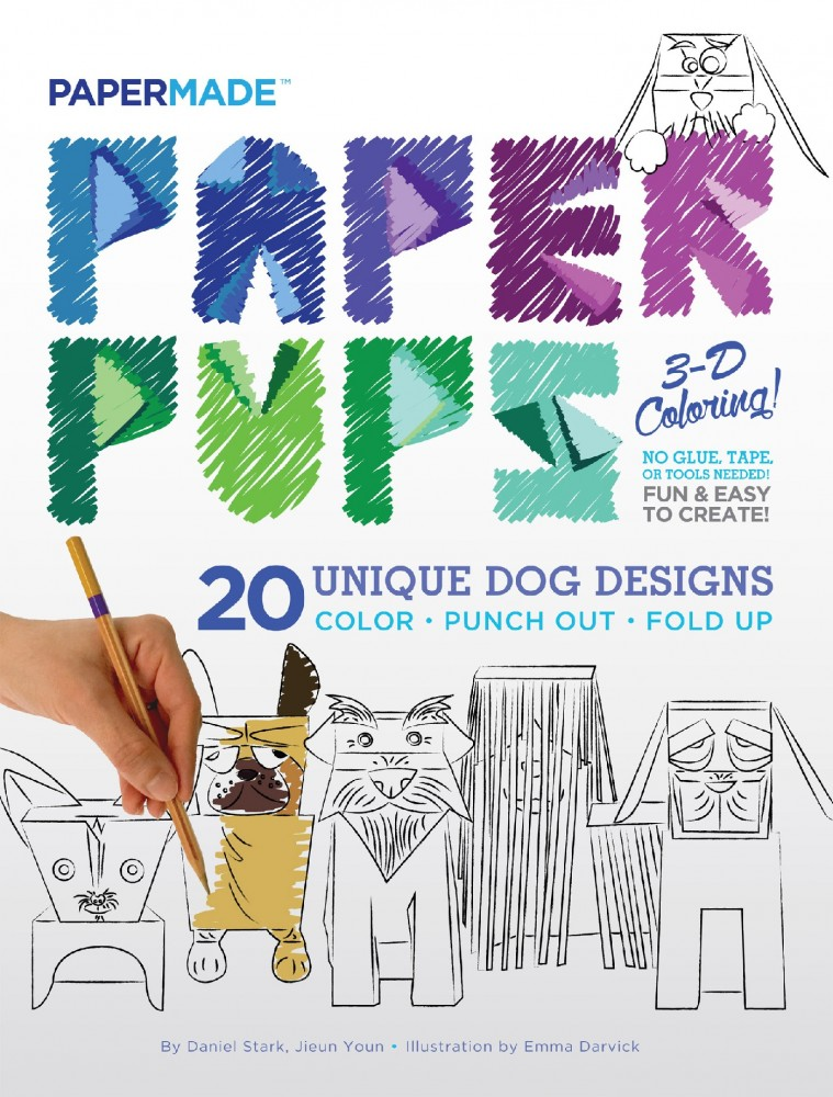 Paper Pups 3D Coloring Book | powerHouse Books
