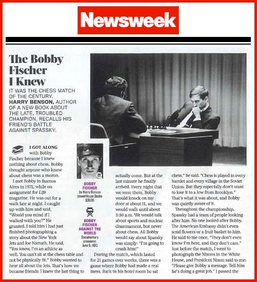 Benson's Bobby Fischer in