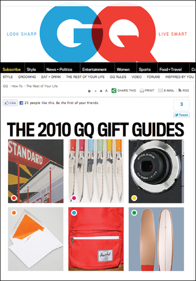Take Ivy in GQ's 2010 Gift Guide