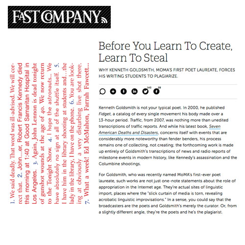 Fast Company Sees A Lesson In Plagiarism In Seven American